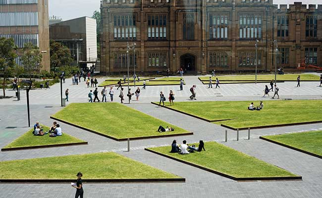 Image of students on campus